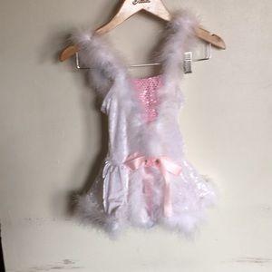Dansco White and Pink Dance Costume